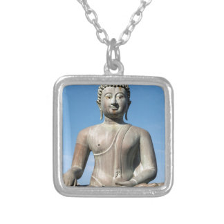 Buddha Statue, Sri Lanka Silver Plated Necklace