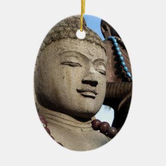 Buddha statues ceramic oval ornament