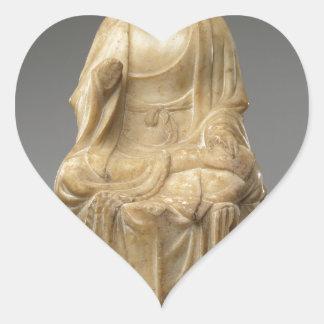 Buddha - Tang dynasty (618–907) Heart Sticker