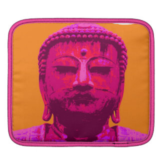 Buddha test pink and orange iPad sleeve