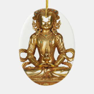 BUDDHA- THE GOLDEN ONE CERAMIC OVAL ORNAMENT