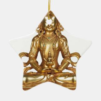 BUDDHA- THE GOLDEN ONE CERAMIC STAR ORNAMENT