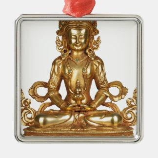 BUDDHA- THE GOLDEN ONE Silver-Colored SQUARE ORNAMENT