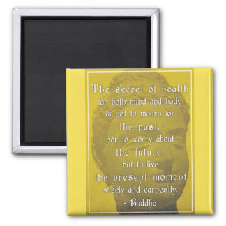 Buddha 'The secret of health...' Quote Magnet