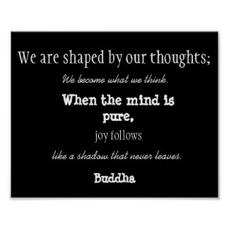 Buddha Thoughts Inspirational Quote Poster