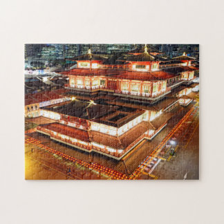 Buddha Tooth Relic Singapore. Jigsaw Puzzle