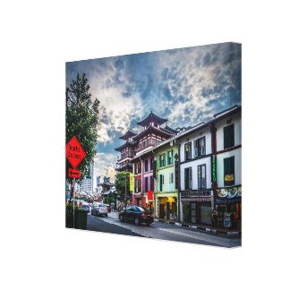 Buddha tooth temple in Chinatown, Singapore Canvas Print