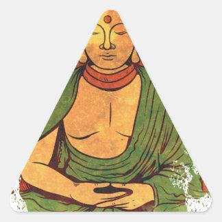 Buddha Triangle Sticker