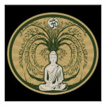 Buddha Under the Bodhi Tree Poster