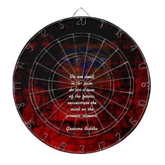 Buddha Uplifting Quote Don't Dwell In The Past Dartboard