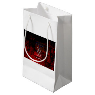 Buddha Uplifting Quote Don't Dwell In The Past Small Gift Bag