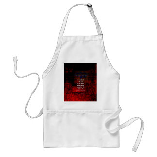 Buddha Uplifting Quote Don't Dwell In The Past Standard Apron