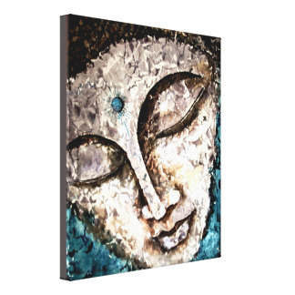 Buddha Watercolor wrapped Canvas Print 10x12