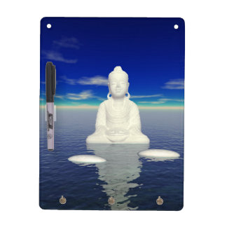 buddha white and two steps dry erase board