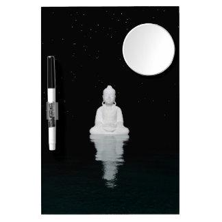buddha white dry erase board with mirror