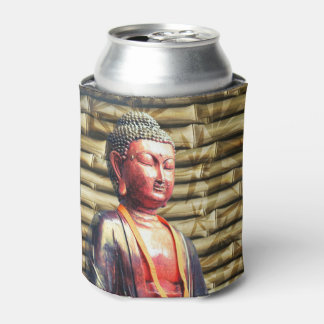 Buddha with Bamboo Can Cooler