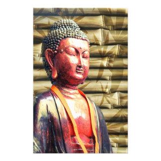 Buddha with Bamboo Customized Stationery