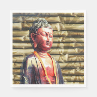 Buddha with Bamboo Paper Napkins