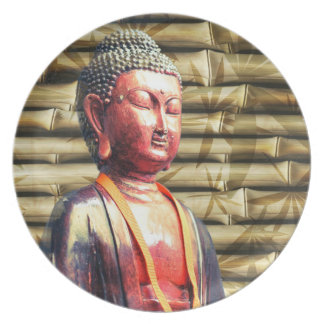 Buddha with Bamboo Party Plates