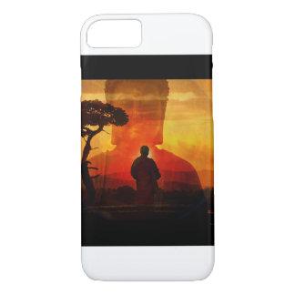 Buddha With Sunset Background iPhone 8/7 Case