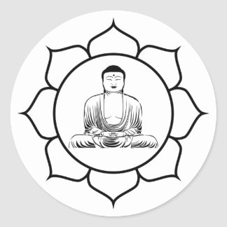 Buddha Yoga Lotus Sticker