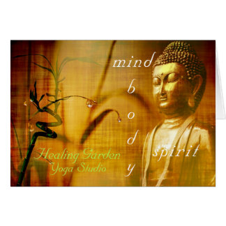 Buddha Yoga Studio Customer Client Notecards Card