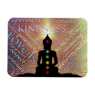 Buddha Zen Spiritual Enlightenment Love Coaster Magnet