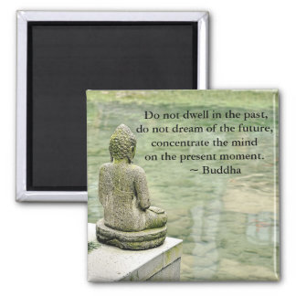 Buddha Zen Spiritual Inspirational Enlightenment Square Magnet