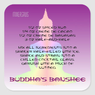 Buddha's Banshee Drink Recipe Square Sticker