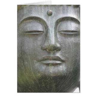 Buddha's Face Card