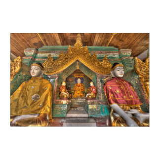 Buddhas In A Temple Acrylic Print