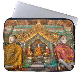 Buddhas In A Temple Laptop Sleeve