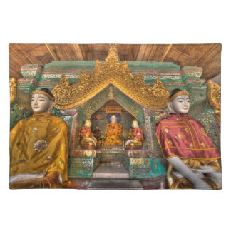 Buddhas In A Temple Placemat