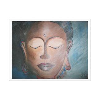 Buddhas smile canvas print