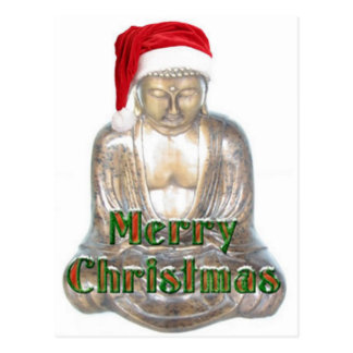 Buddhism - Buddha - Merry Christmas Hat Postcard