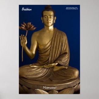 "Buddhism ""Namaste"" Fine Art Poster"