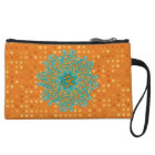Buddhism Om (aum) mandala clutch bag