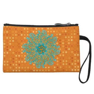 Buddhism Om (aum) mandala clutch bag