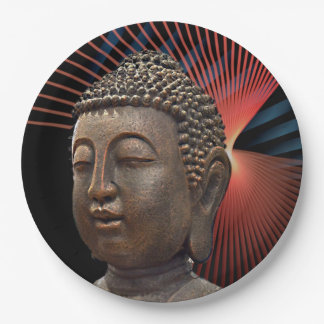 Buddhism Symbol Style 9 Inch Paper Plate