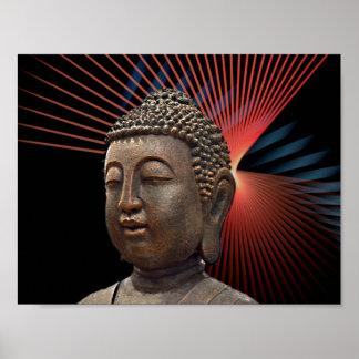 Buddhism Symbol Style Poster