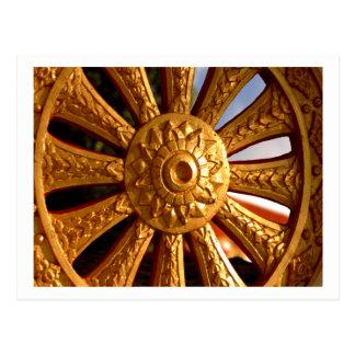 Buddhist Chariot Wheel Postcard