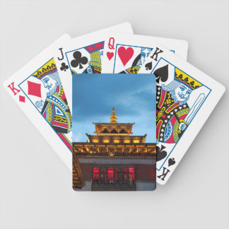 Buddhist Dzong Roof Bicycle Playing Cards