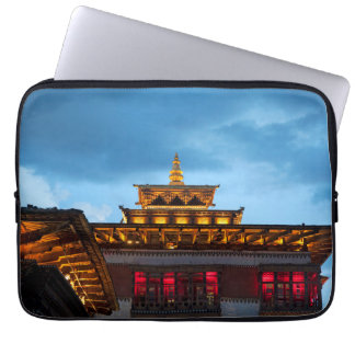 Buddhist Dzong Roof Laptop Sleeve