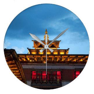 Buddhist Dzong Roof Large Clock