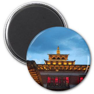 Buddhist Dzong Roof Magnet