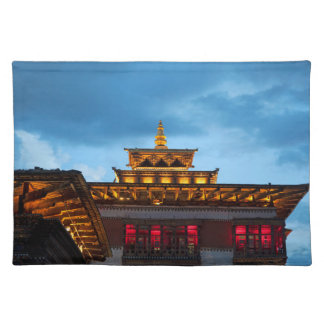Buddhist Dzong Roof Placemat