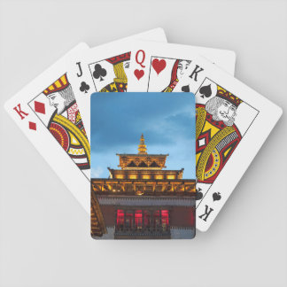 Buddhist Dzong Roof Playing Cards