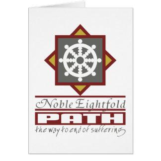 Buddhist Eightfold Path Greeting Card