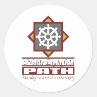 Buddhist Eightfold Path Round Sticker