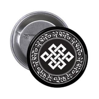 Buddhist Endless Knot 2 Inch Round Button